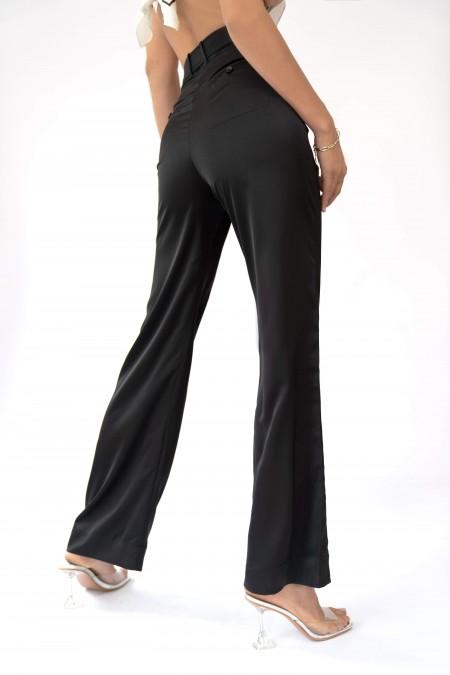 Wrinkle-Resistant Pants Black