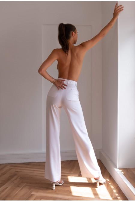 Wrinkle-Resistant Pants White