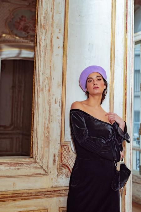 Margot velvet dress black